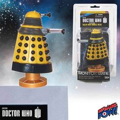 Doctor Who Yellow Eternal Dalek Monitor Mate Bobble Head - Radar Toys