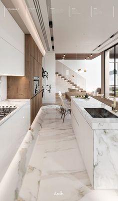 Luxury Kitchen Design, Kitchen Room Design, Home Room Design, Dream Home Design, Kitchen Cabinet Design, Modern Bathroom Design, Home Decor Kitchen, Interior Design Kitchen, Kitchen Ideas
