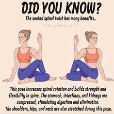 Not only workout but poses can bring benefits. No solo el ejercicio, las poses igual traen beneficios   Fitness Workout For Women, Yoga Fitness, Health And Fitness Articles, Health Fitness, Yoga Facts, Yoga Moves, Flexibility Workout, Back Exercises, Morning Yoga