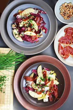... Radicchio, and Apple Salad with Crispy Prosciutto Chips and Hazelnuts