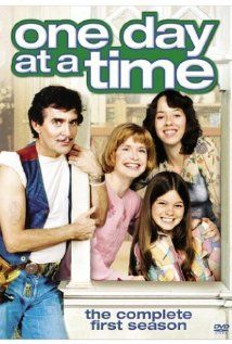 Ann Romano, a divorced mother, played by Bonnie Franklin who moves to Indianapolis with her two teenage daughters Julie and Barbara Cooper (Mackenzie Phillips, Valerie Bertinelli) with Dwayne Schneider as their building superintendent (Pat Harrington).