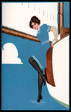 "Coles Phillips - Illustration from ""A Young Man's Fancy""  (1912) Fadeaway girl #YoungMensFashion"