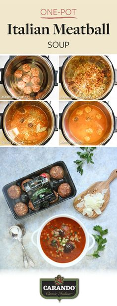 Comfort food season is here! This fall, learn how to whip up an easy and delicious Italian dish for your dinner table with this One-Pot Italian Meatball Soup recipe. Featuring Carando Mozzarella Rustica Fresh Italian Style Meatballs, it's not hard to see where this savory soup gets its tasty flavor from. Pick up this dinner essential for yourself by adding it to your Kroger ClickList order today!