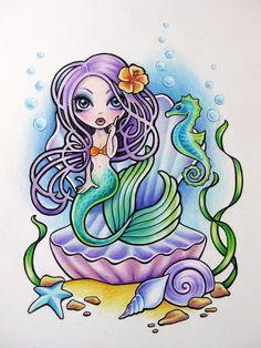 Undina by on deviantART Fantasy Mermaids, Unicorns And Mermaids, Mermaids And Mermen, Mythical Creatures, Sea Creatures, Your Spirit Animal, Mermaid Diy, Desenho Tattoo, Beautiful Fairies