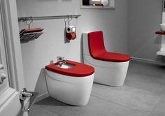 Des toilettes de couleurs de chez ROCA - mes-envies-deco.overblog.com