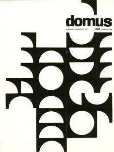 Domus, architettura arredamento arte, n. 361 - dicembre 1959. Progetto grafico di Ilio Negri (1926-1974) e Giulio Confalonieri (1926-2008)