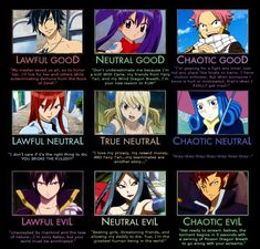 Fairy Tail: Good, Neutral and Evil by 4xEyes1987