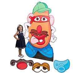 Giant Mr. Potato Head Standee with fun facial cutouts that you can attach with velcro.