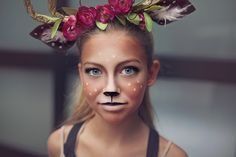 deer make up tutorial and antlers tutorial for deer costume #deermakeup
