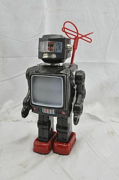 Vintage Antique Horikawa Space Explorer TV Robot Japan Tin Toy