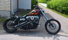Sami's 2012 Harley Davidson Wide Glide featuring, amongst other mods, a standard length Rocket Bobs Voodoo Fender | Rocket Bobs