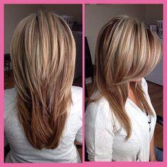 Beliebte Lange Frisuren Layered Straight Lange geschichteten Frisuren gerade kann einfach und leicht, dennoch ist es wirklich ziemlich kompli...