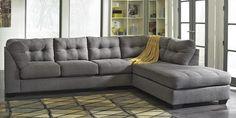 2 Piece Grey Sectional Sofa
