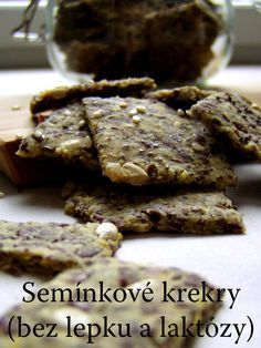 TynaTyna: Semínkové krekry (bez lepku a laktózy) Paleo, Keto, Cereal, Health Fitness, Low Carb, Gluten Free, Healthy Recipes, Cookies, Chocolate