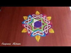 Geometry Formulas, Free Hand Rangoli Design, Kolam Rangoli, Rangoli With Dots, Rangoli Designs, Board, Happy, Youtube, Ser Feliz