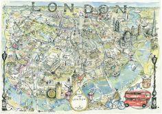 Map of London v2 with animals - Jonathan Addis