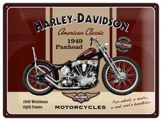 Nostalgic Signs | Nostalgic Art Tin Sign Harley Davidson 1949 Panhead 40X30