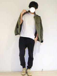 wjk blackのパンツ「【wjk black】≪STUDIOUS限定≫MIDDLE WEIGHT SWEAT EASY PANTS」を使ったワタルのコーディネートです。WEARはモデル・俳優・ショップスタッフなどの着こなしをチェックできるファッションコーディネートサイトです。