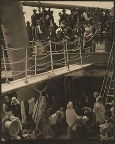 """Instrumental in introducing avant-garde art to the United States, photographer and modern art promoter Alfred Stieglitz was born on this day in """"The Steerage,"""" 1907 (negative), c. 1913 (photogravure), by Alfred Stieglitz Edward Steichen, Picasso Dora Maar, Pablo Picasso, Alfred Stieglitz, History Of Photography, White Photography, Fine Art Photography, Straight Photography, Documentary Photography"""