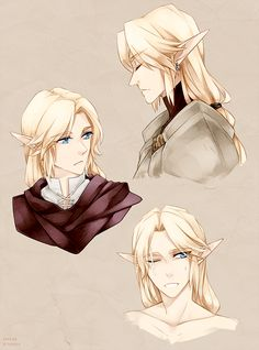 Link.. With gloriously flowing hair.