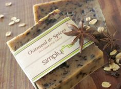 Oatmeal & Spices Handmade Cold Process Natural Soap by SimplyNu