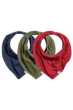 3-pack triangular scarves - Dark blue - | H&M GB 1
