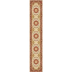 Safavieh LNH330A Lyndhurst Collection Ivory and Red Area Runner, 2-Feet 3-Inch by 16-Feet by Safavieh. $135.00. The traditional, medallions pattern of this rug will give your room a elegant accent. 100% Polypropylene Pile. This rug features an ivory background and red border, and displays beautiful panel colors of burgundy, green, gold and blue. This runner measures 2-feet 7-inch by 16-feet. The high-quality polypropylene pile fiber adds durability and longevity to these...