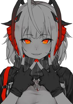W : arknights Dark Anime Girl, Manga Girl, Kawaii Anime Girl, Anime Art Girl, Thicc Anime, Chica Anime Manga, Fanarts Anime, Yandere Manga, Anime Devil