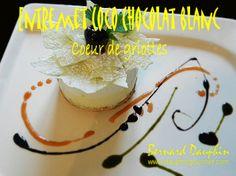 ENTREMET COCO CHOCOLAT BLANC et coeur de griotte