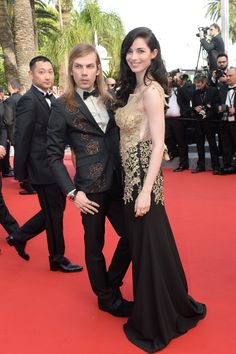 French actress Sarah Barzyk and French fashion designer Christophe Guillarmé wearing a Charriol Celtic watch at Cannes Film Festival 2015 Cannes Film Festival 2015, Charriol, Swiss Made Watches, French Fashion Designers, French Actress, Bridesmaid Dresses, Wedding Dresses, Luxury Branding, Pumps