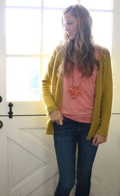 what i wore at the pleated poppy - mixing unexpected colors: deep mustard and faded pink