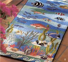 C Reef Rug By Claire Murray