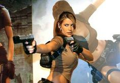Rhona Mitra - model for Lara Croft/Tomb Raider video game.