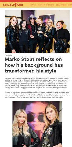 MARKO STOUT Modern Art, Contemporary Art, Multimedia Artist, Artist Profile, In The Heart, Fine Art Gallery, New York City, Interview, Album