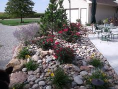Front Yard Landscaping Ideas River Rock