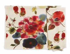 LOVE this. Cap d'Antibes in Multicolour; linen. RUBELLI THROUGH BERGAMO FABRICS: 212-888-3333; bergamofabrics.com.