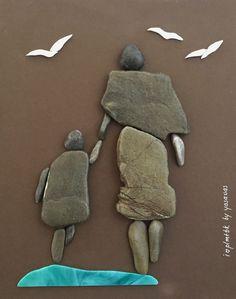 Pebble art , i love plmtbk by yasavas , instagram:yasavas #pebble #art #diy