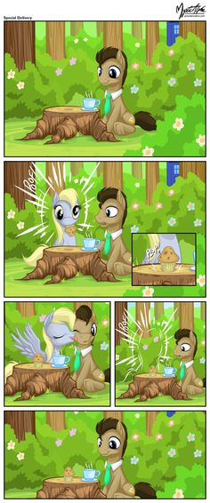 Dr. Whooves and Derpy - Special Delivery by mysticalpha.deviantart.com on @deviantART