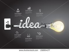 Creative light bulb idea abstract infographic, Inspiration concept modern design template workflow layout, diagram, step up options, Vector illustration - Shutterstock Premier