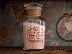 Apothecary Spice jar filled with Himalayan Rose Salt