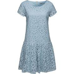 Feminines Kleid in Hellblau von Soaked in Luxury. Dieses Kleid punktet mit Allover-Spitze und einem metallischen Zipper im Nackenbereich. ♥ ab 79,90 €