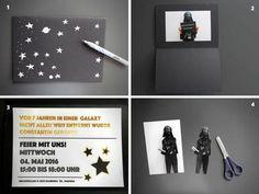 Star Wars Einladungskarte selber basteln.