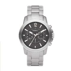 The Fossil Men's Stainless Steel Bracelet Black Analog Dial Chronograph Watch is and elegant, classy and versatile timepiece with a reasonable price. Amazing Watches, Beautiful Watches, Stainless Steel Watch, Stainless Steel Bracelet, Fossil Watches For Men, Women's Watches, Fashion Watches, Men's Fashion, Chronograph