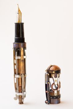 Hand-crafted steampunk fountain pen by Brian Gisi