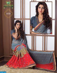 Sonarika Embroidery saree