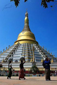 Mahazedi Paya in Bago, Myanmar