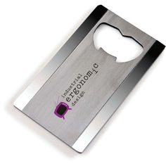This Norwood Steel Bottle Opener is from one of the classic bottle openers collection of Norwood. Made of Satin-finished steel, this bottle opener is shaped in credit card for easy use and storing. Steel Companies, Bottle Cutting, Quality Logo Products, Promotional Giveaways, Laser, Brand It, Card Sizes, Bottle Openers, Bottle Caps