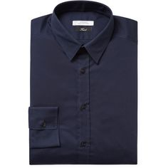 Versace Collection Men's Slim Fit Dress Shirt - Dark Blue/Navy - Size... (€70) ❤ liked on Polyvore featuring men's fashion, men's clothing, men's shirts, men's dress shirts, mens slim fit dress shirts, mens short sleeve dress shirts, mens navy blue shirt, mens cotton shirts and mens navy blue dress shirt