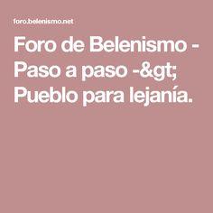 Foro de Belenismo - Paso a paso -> Pueblo para lejanía.