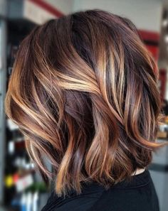 Brown Hair With Blonde Highlights, Brown Hair Balayage, Red Highlights, Blonde Streaks, Chunky Highlights, Caramel Highlights, Balyage Caramel, Highlighted Hair For Brunettes, Caramel Blonde
